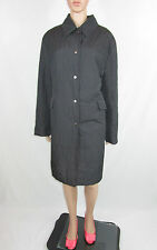 DINOMODA Germany Designer Ladies Black Quilted Long Winter Coat Plus sz 16 AR83