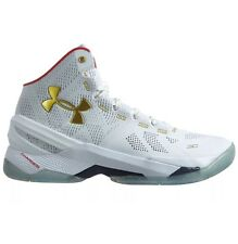 Under Armour Curry 2 All Star White With Gold Flakes 1259007-102 Men's Size