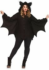 Leg Avenue Women's Plus-Size Cozy Bat Costume, Black, 1X