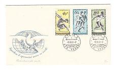 Tschechoslowakei FDC Ersttagsbrief 1962 Sport Mi.Nr.1316+17+20