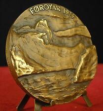 Médaille Îles Féroé Føroyar Sven HAVSTEEN-MIKKELSEN Denmark Faroe Island Medal 铜