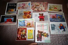 Lot 12 Cartes Postales Ours en Peluche Teddy Bear