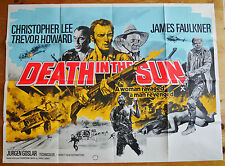 vintage Death In The Sun aka Albino quad film cinema poster 1976 Chrisopher Lee