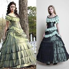 Vampire Diaries Elena Gilbert Green Dress Costume Cosplay *Tailored*
