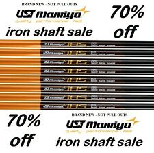 UST Mamiya set of 8 GRAPHITE LIGHT WEIGHT 65g IRON SHAFTS .370 STIFF FLEX S
