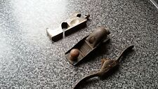 3 VINTAGE WOOD PLANES RECORD No 0120 SPOKE SHAVE No 51 + 1 OTHER