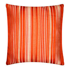 "Self Embossed Orange Striped Satin Cushion Cover Pillow for Sofa Bed 16"" x 16"""