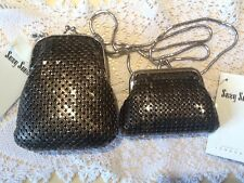 SUZY SMITH Of LONDON Vintage glam mesh Bag And Purse BNWT