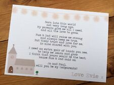 1 Handmade Personalised Godmother, Godfather, Godparent Card