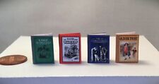 Miniature Books CHARLES DICKENS Classic Set Dollhouse 1:12 Scale Readable Book