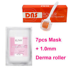 7pc ELTHY Anti Pigmentation Paper Mask Facial Mask & 1x Microneedle Derma Roller