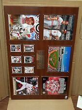 New Cincinnati Reds Greatest Stars Picture Wooden Wall Plaque 36x24 Rose Larkin