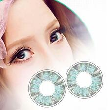 1 Pair Contact Lens Color Soft Big Eye UV Protection Cosmetic Green Clover AC