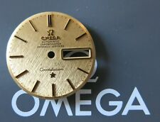 Rare OMEGA 1970s AUTO Constellation Cal.751 SOLID 18ct GOLD Mens Watch Dial MINT
