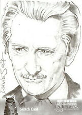 Dr Doctor Who Big Screen Additions Mono Sketch Card by Jason Davies /4