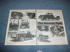 "1955 Ford F100 Pickup Vintage Custom Truck Article ""The Phoenix Flyer"""