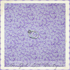 BonEful Fabric Cotton Quilt VTG Purple White Dot Flower Calico Shabby Chic SCRAP
