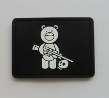 Hot  Sniper Bear PVC 3D Rubber Velcro Patch   SK  4