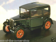 OXFORD DIECAST 1/43 AUSTIN SEVEN 7 RN SALOON IN BLACK WITH RED WHEELS ASS005