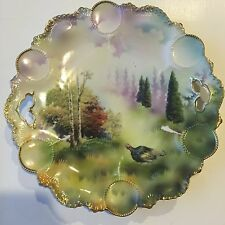 RS Prussia Handled Cake Plate w/ Turkey