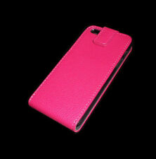NEW RED LEATHER FOLDING CASE APPLE IPHONE 5 5S  SUPER FAST SHIPPING