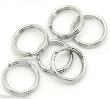 "500 Silver Tone Stainless Steel Split Rings 7mm(1/4"")"