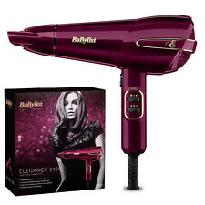 BaByliss 5560KU Elegance 2100W Hair Dryer, Raspberry