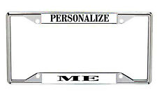 Personalized Metal License Frames  White Background With Black Lettering EverySt