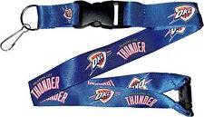 OKC Oklahoma City Thunder NBA Breakaway Lanyard Blue with Keychain Clip NBA