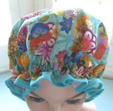 designer SHOWER CAP multi color floral abstract poly cotton waterproof beautiful