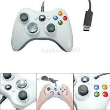 White USB Wired Joypad Controller For Xbox 360 Slim Video Game PC Windows 7 NEW