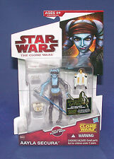 Star Wars The Clone Wars CW40 Aayla Secura Hasbro 2009 MOC