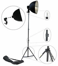 DynaSun Kit S27Set Illuminatore Studio con Supporto Portalampada, Riflettore