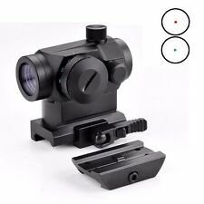 New Tactical Mini Micro 1X24 Reflex Red&Green Dot Scope Sight with QD Quick Rise