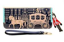 Fairy Tale Style Horse and Carriage Zipper Clutch Women Purse