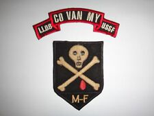2 Vietnam War Patches: USSF ADVISOR + ARVN Mobile Strike Force Cmd MIKE FORCE