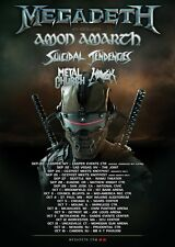 MEGADETH /AMON AMARTH/SUICIDAL TENDENCIES/METAL CHURCH 2016 CONCERT TOUR POSTER