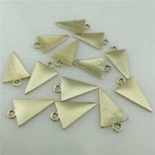 19868 10X Matte Gold Alloy Smooth Blank Triangle Pendant Charm Jewelry Findings