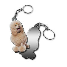 Mirrored Acrylic Poodle Keychain Dog Keyring Made in Usa Key Chains Chain