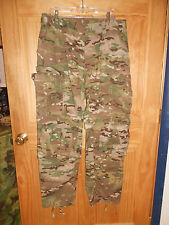 EUC GI Army Uniform Massif Multicam Combat Pants- WITH Kneepads Large Reg LR