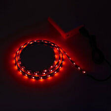 "39"" 5V USB LED Strip Light  Red bias lighting WaterProof For Car TV Power b"