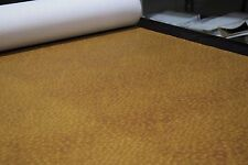 """Gold Bronze Ostrich Emu Faux Leather Fabric Vinyl Auto Upholstery 54""""W Pleather"""