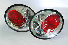 VW New Beetle 98-05 Chrome Clear Rear Euro Altezza Tail Lights Pair RH LH