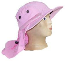 Kid/Child Wide Brim Mesh Summer Hat with Neck Flap,Sun,Outdoors #285 Light Pink