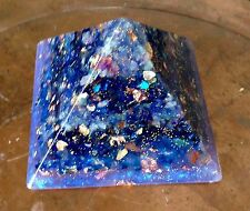 """Nebula puissant 120mm 4.5"""" or cuivre gizeh pyramide d'orgone crystal orgonite"""