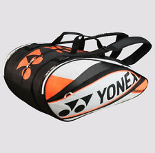YONEX  9 Tennis/12+ Badminton Pro Thermal Racquet Bag 9529EX, White/Orange