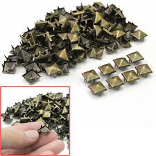 100 x Tachuelas Remaches Pirámide 9mm para Decorar Zapatos Bolsas Ropa DIY