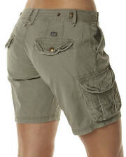 "BRAND NEW +TAG BILLABONG 'OUTSIDER' LADIES SIZE 8 / 26"" KHAKI CARGO WALK SHORTS"