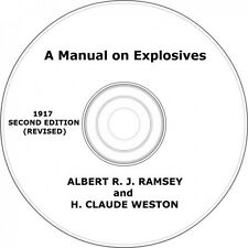 A Manual on Explosives Vintage Book on CD