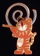 Shooting Olympic Pin Badge~1988~Mascot:Hodori~NEW! Still in 25 yr old packaging!